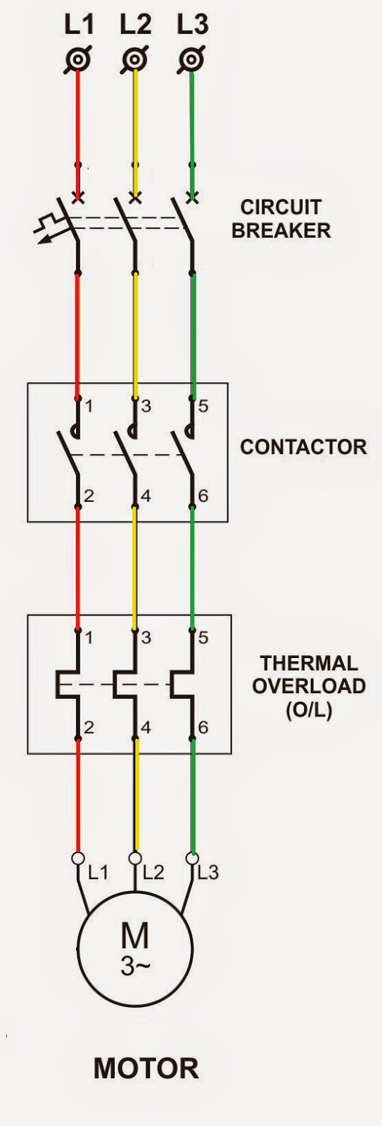 Single Phase Dol Starter Wiring Diagram Schematics and Wiring Diagrams