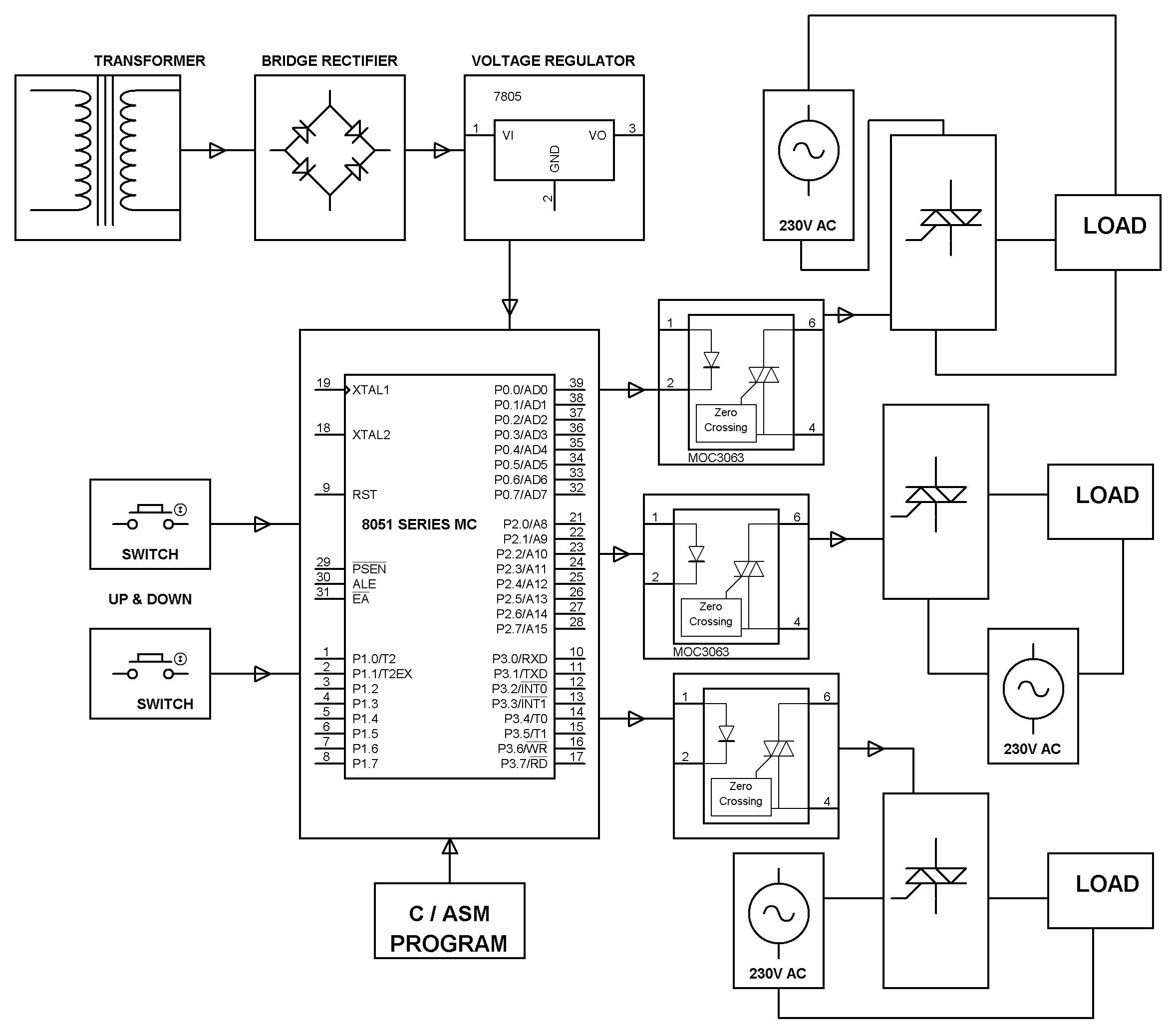 Three Phase Solid State Relay With Zvs Embedded Systems Edgefxkits speaker wiring diagram voltmeter
