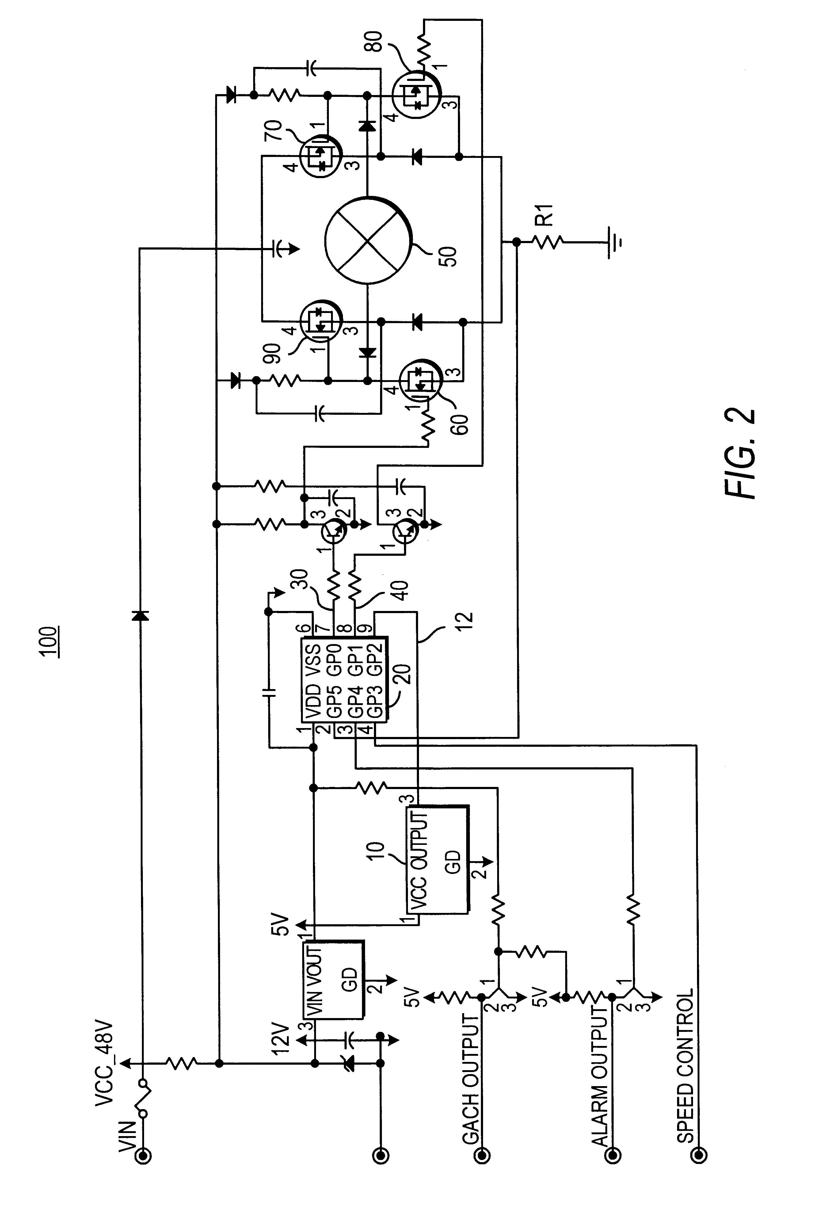 Patent Us Drive Circuit For A Brushless Dc Motor Google Drawing Motor Soft Starter Circuit Diagram