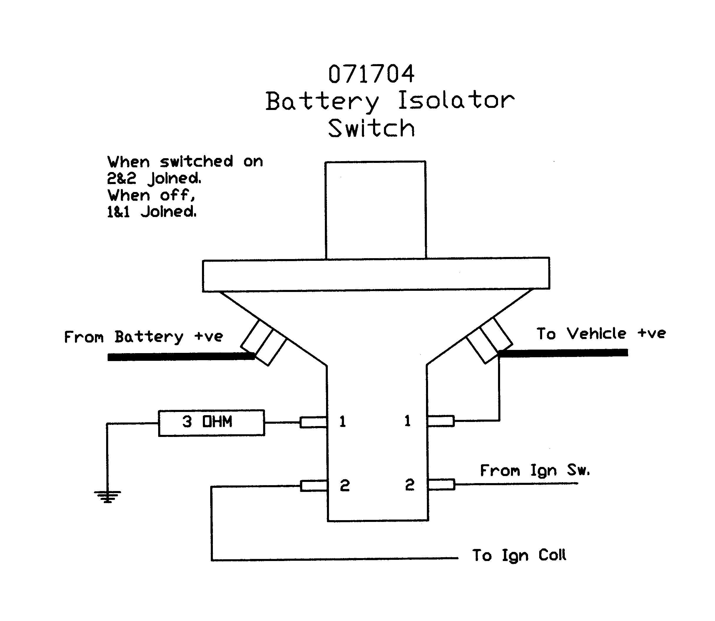 Super Power Battery Isolator Wiring Diagram - Wiring Data