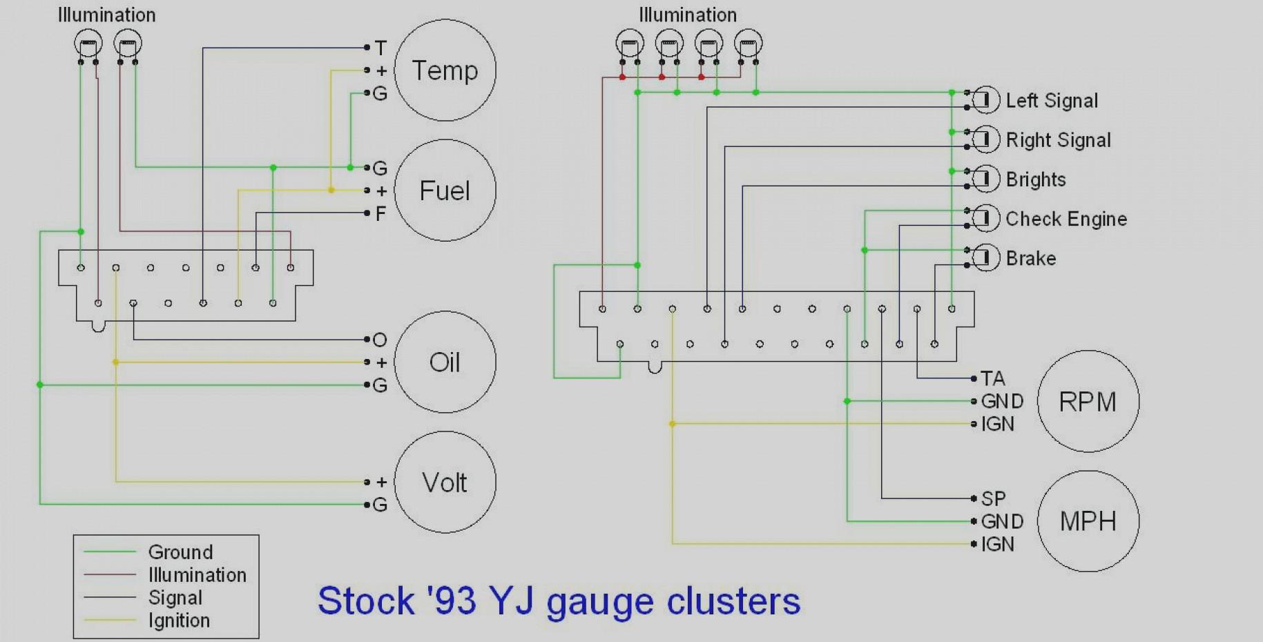 Wonderful Jeep Yj Speedometer Wiring Diagram 1989 Wrangler Free Vintage Sun Super Ii Rpm 89