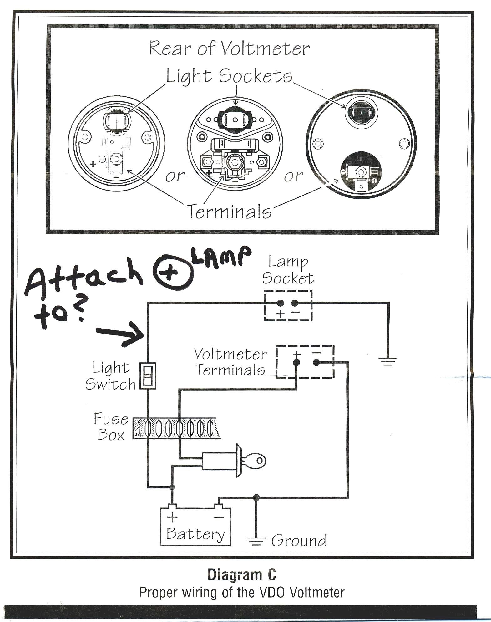 Sunpro Tach Wiring Diagram Image Schematic For Vdo Gauges Diagrams In B C With Notes Simple Stunning