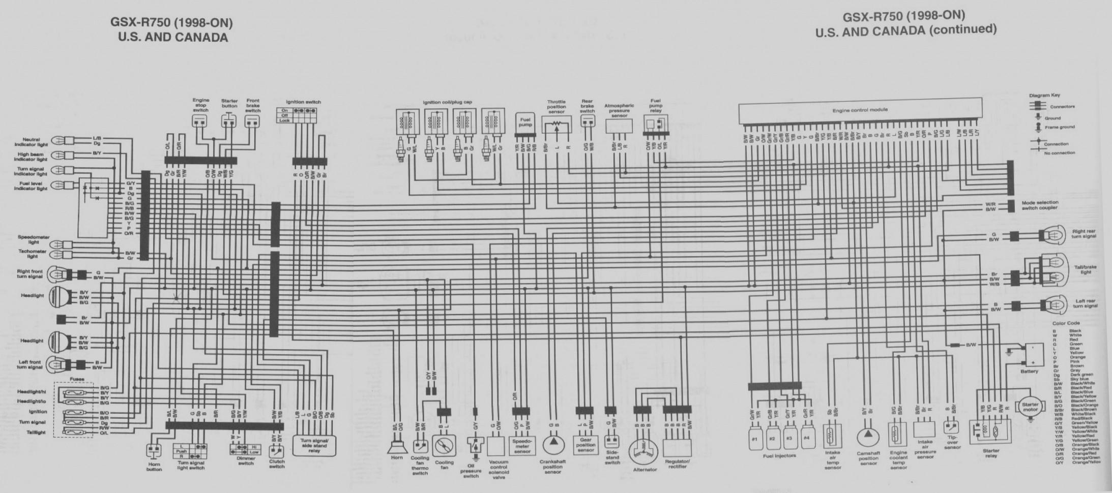 1989 Suzuki Gsx750f    Wiring       Diagram        Wiring       Diagram    and