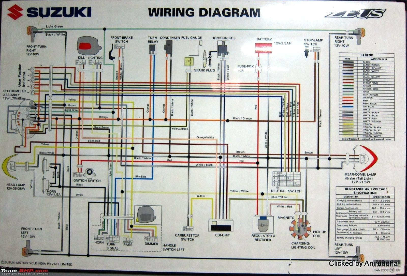 Suzuki Motorcycle Wiring Diagrams Free - Circuit Diagram Symbols •