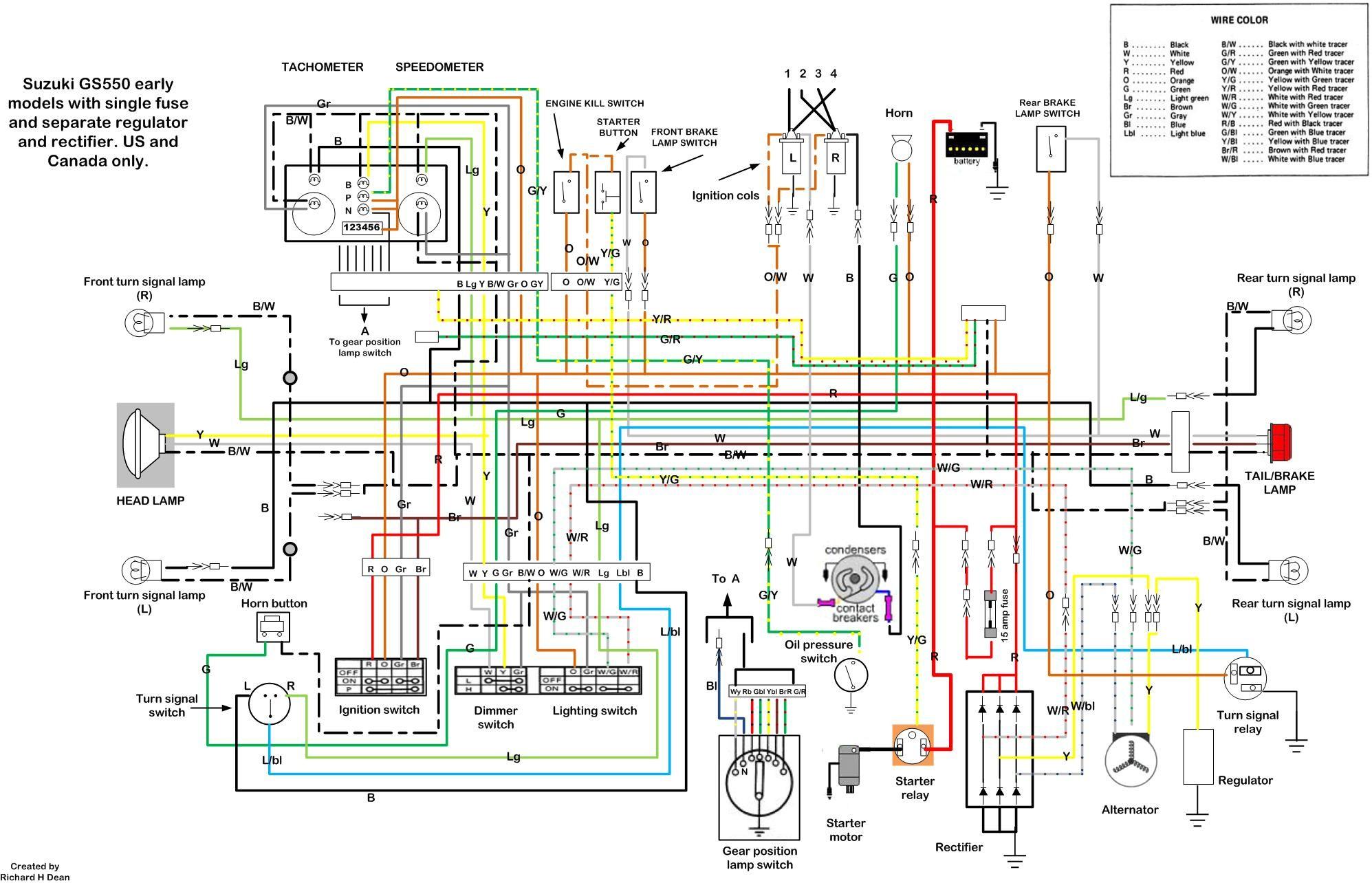 Suzuki gs1100 wiring diagram