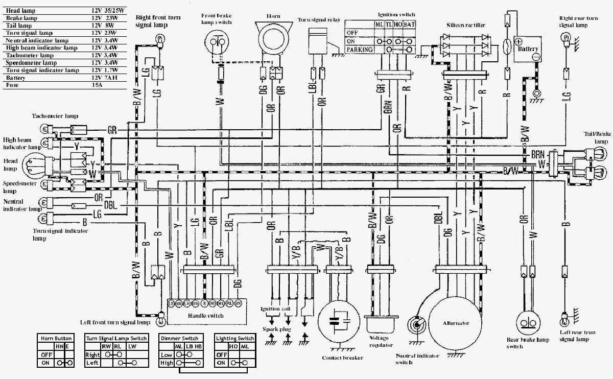 suzuki motorcycle electrical wiring diagrams freex4 electrical rh g news co