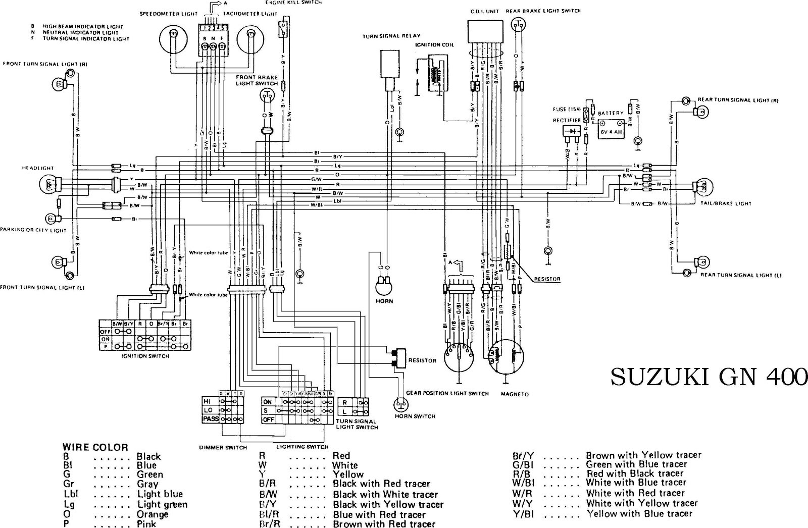 suzuki motorcycle wiring diagram