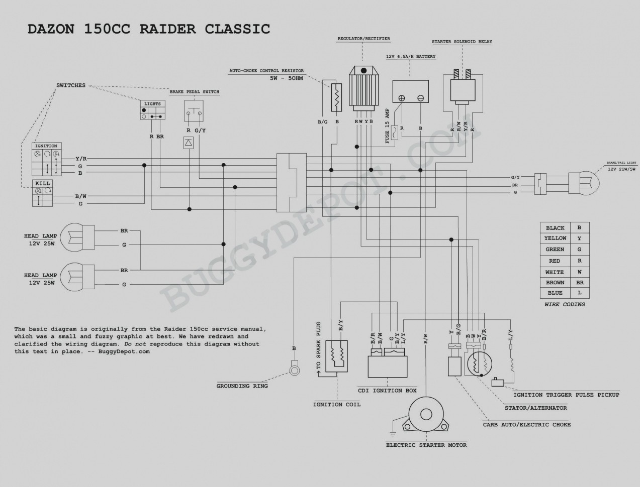 Tao 125cc 4 Wheeler Wiring Diagram Library Highlander Reverse Light 110 Awesome Image Neutral And Lights