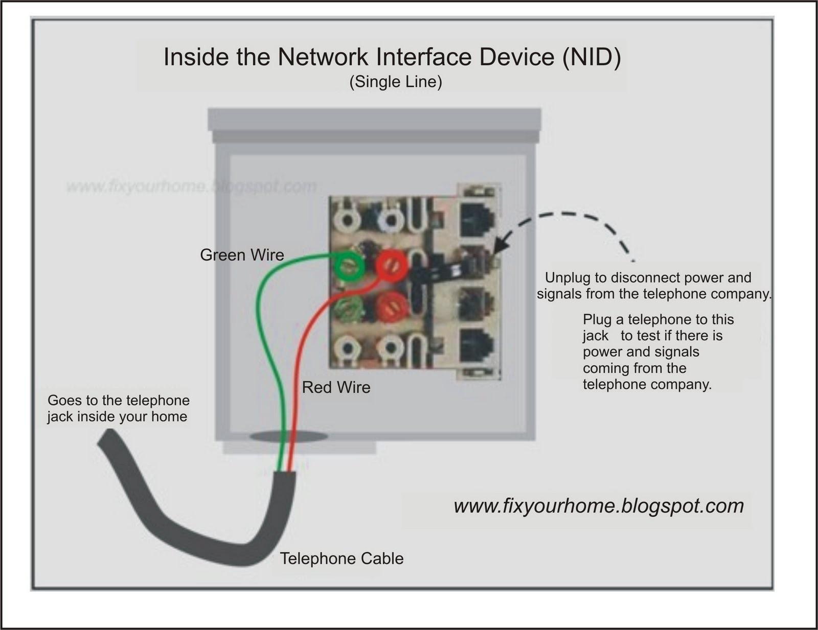 2 wire phone jack wiring diagram