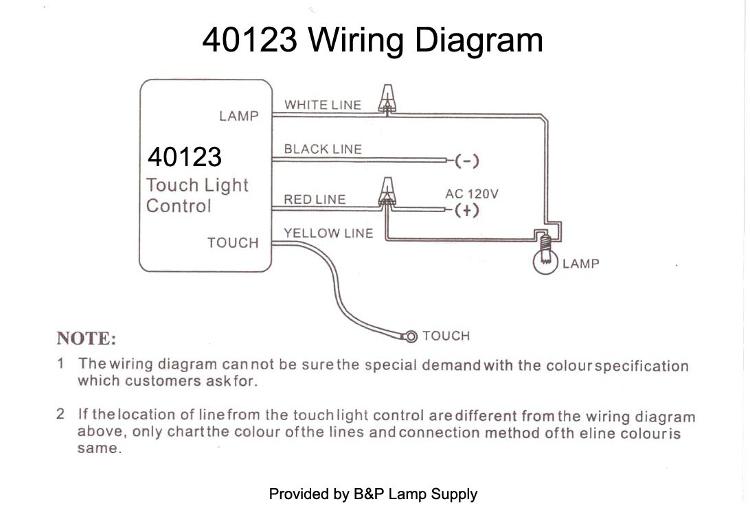 Touch Lamp Sensor Wiring Diagram Wiring Diagram Image