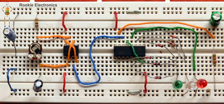 LED Traffic Light Control Circuit