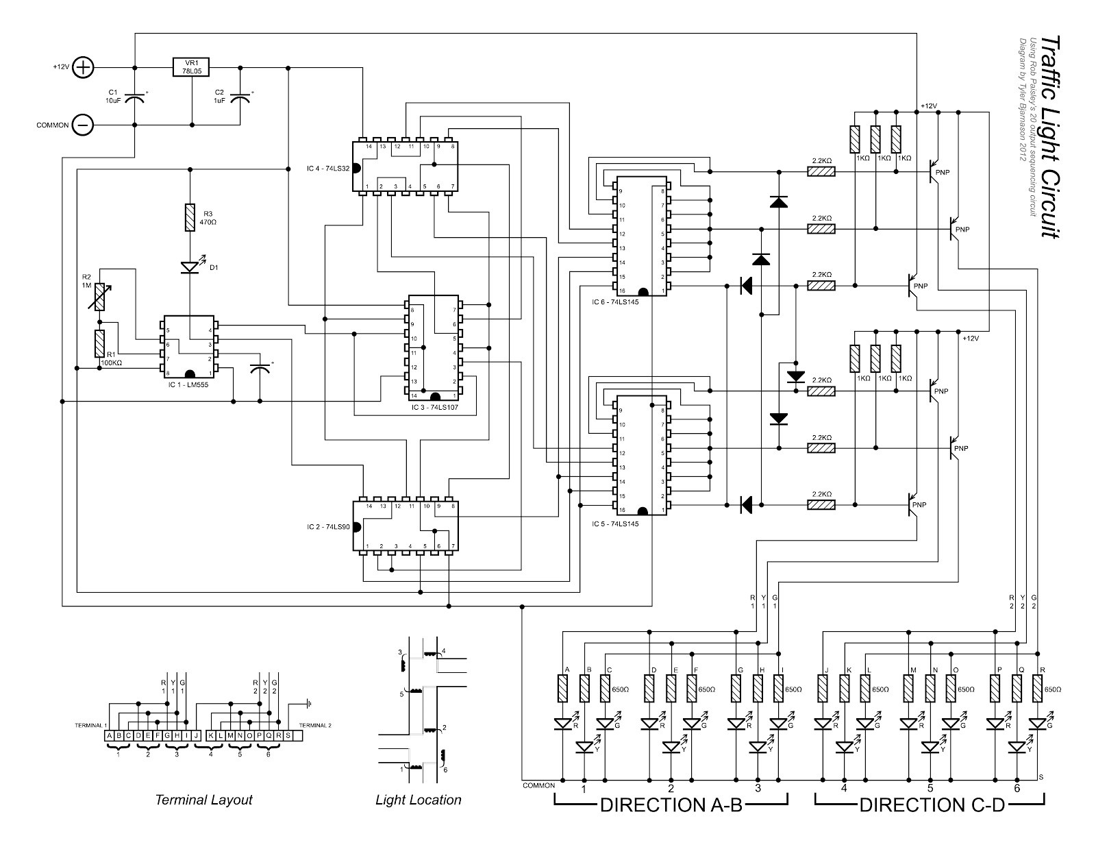 ponent Simple Traffic Light Circuit Diagram Led Chaser Tys Model Railroad Wiring Diagrams Design Trafficlightcontr