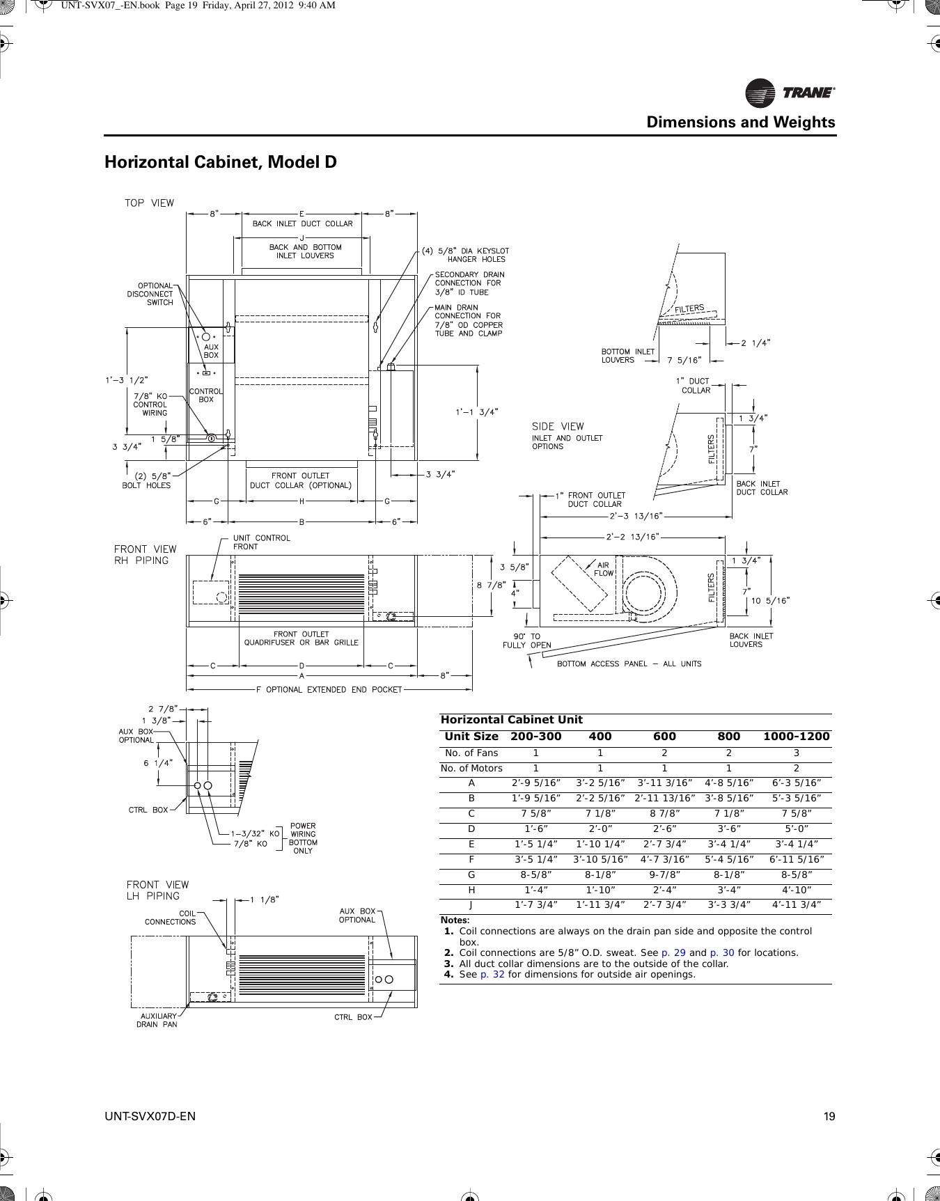 Trane Xe 1200 heat pump manual Operation