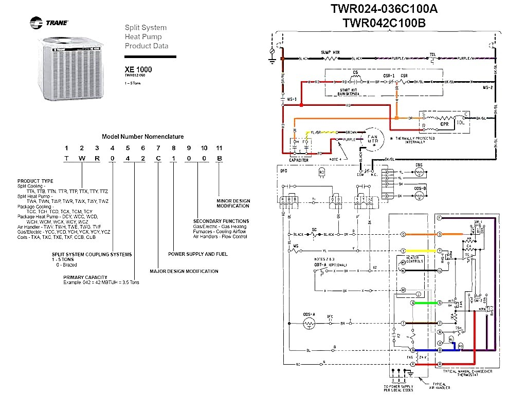 Trane    Heat       Pumps    Wiring    Diagram    Best Of   Wiring    Diagram    Image
