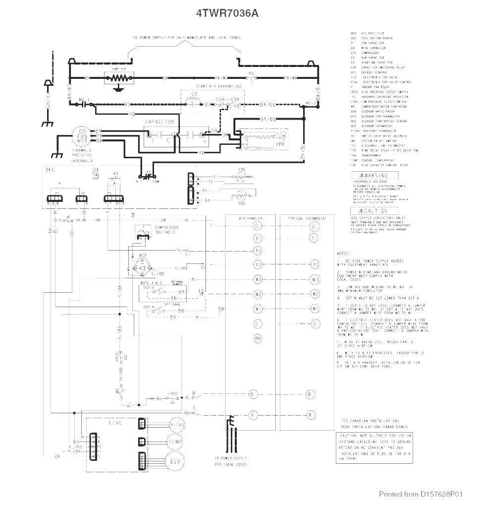 Collection Trane Furnace Wiring Diagram Pictures Diagrams - WIRE ...