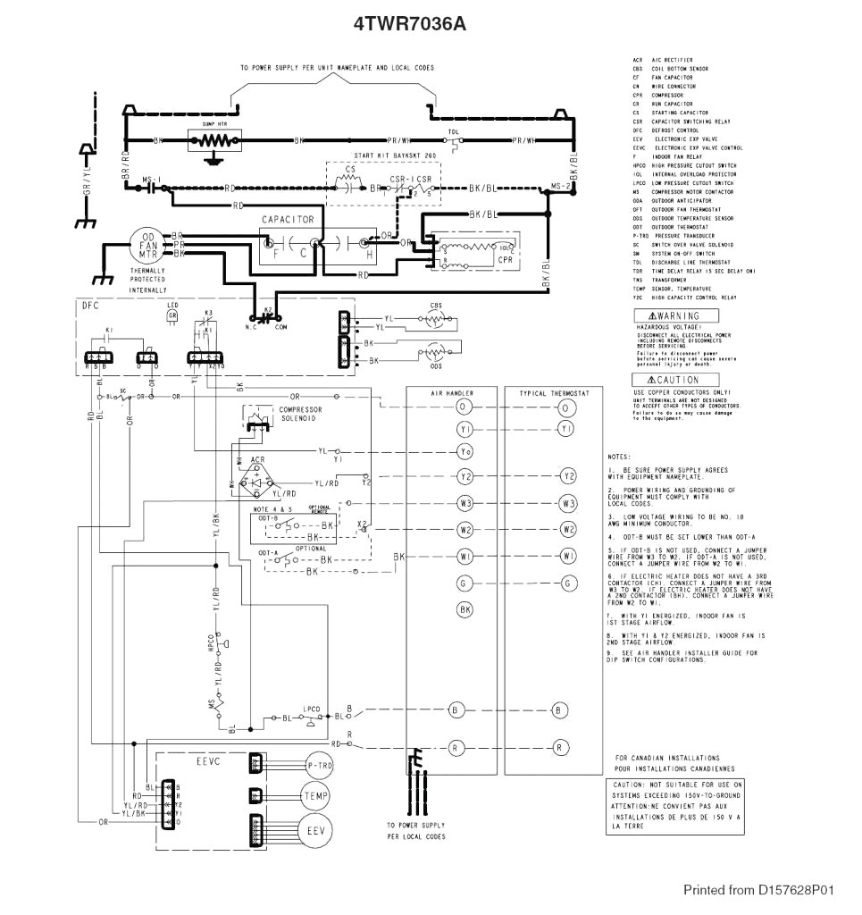 trane rooftop unit wiring diagram