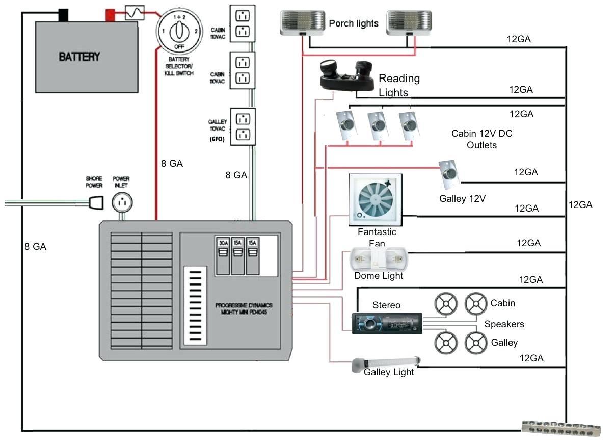 truck camper wiring diagram unique