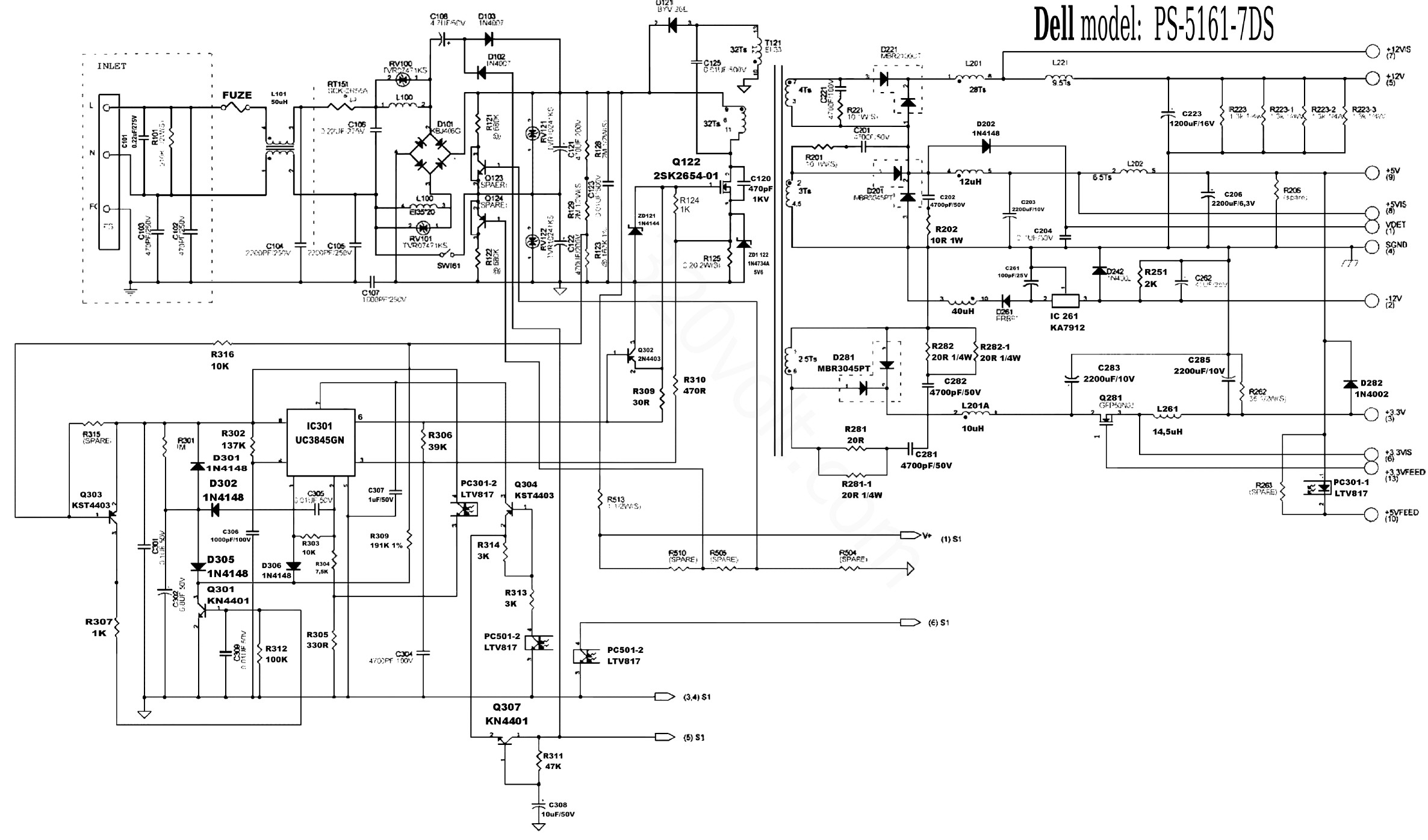 Wiring Diagram For Dell Power Supply - Wiring Diagram Library •