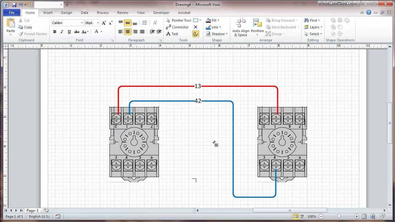 visio circuit best of wiring diagram image rh mainetreasurechest com Home Electrical Wiring Diagrams Wiring Diagram Examples