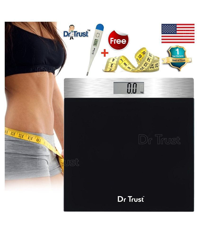 Dr Trust USA PRECISION Bathroom Weight Machine for Human Body Digital Weighing Scale Silver