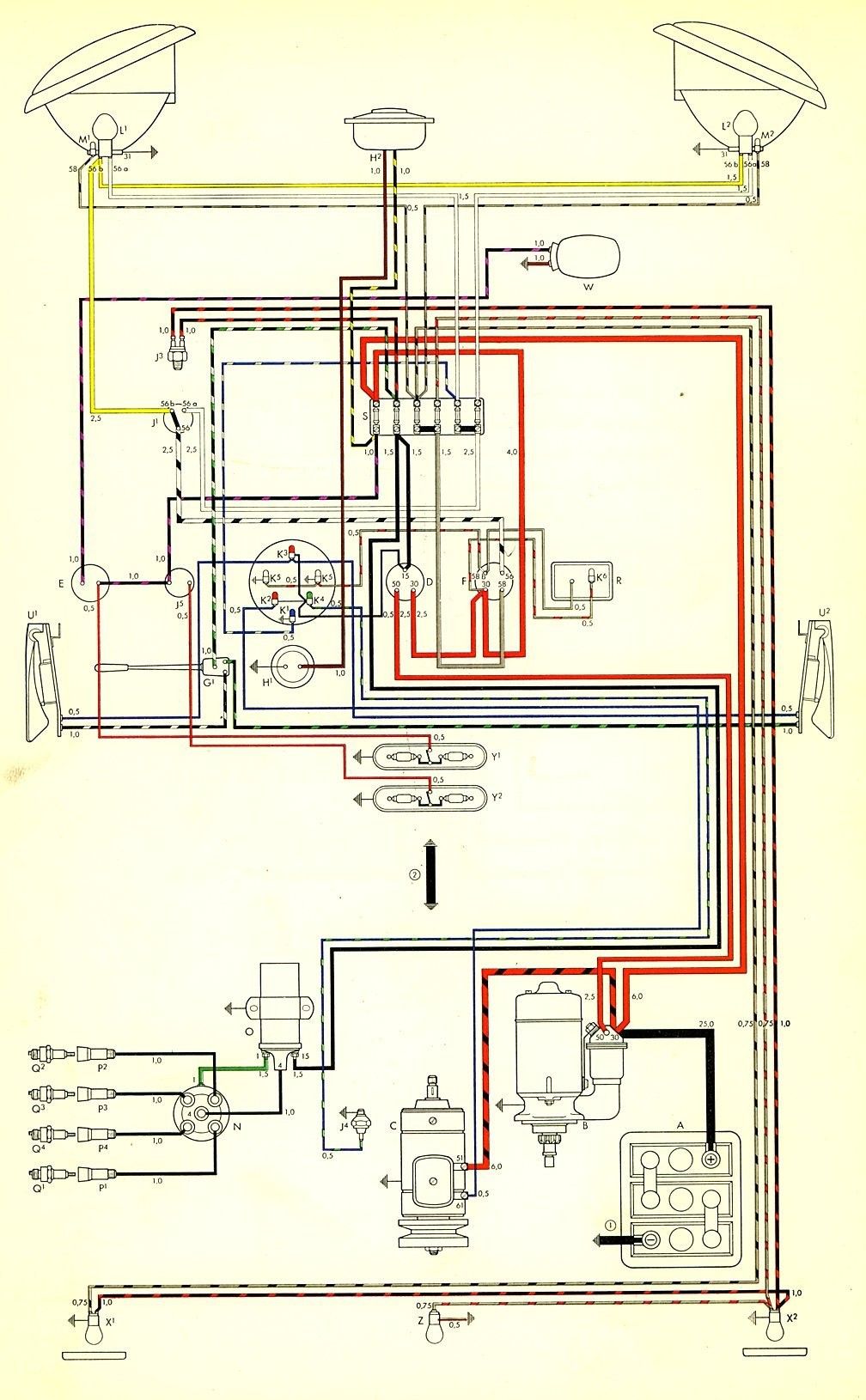 ... vw alternator wiring diagram best of wiring diagram image 74 vw  alternator wiring diagram thesamba type · vw trike ...