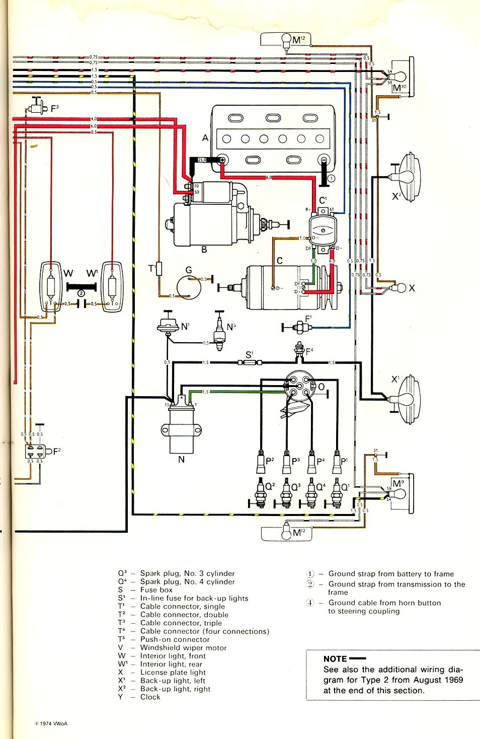 Beetle Alternator Wiring Diagram Dorable Vw 58 1973 Wire Center