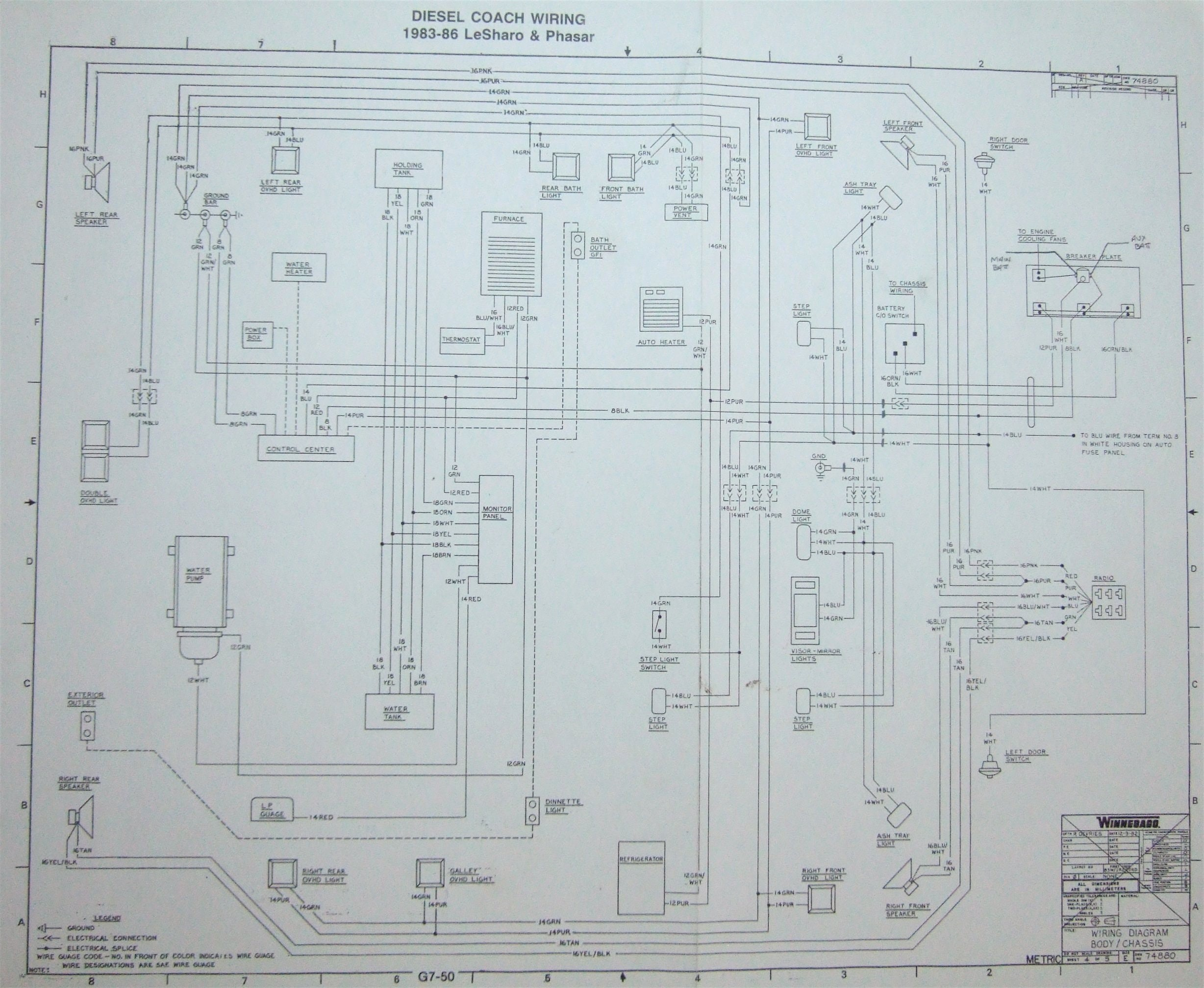 Winnebago Motorhome Wiring Diagram 1987 Chieftain Floor Plans Elegant 1973 Within