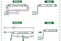 Wiring Diagram for Led Tube Lights Luxury Elegant Convert Fluorescent to Led Wiring Diagram Diagram