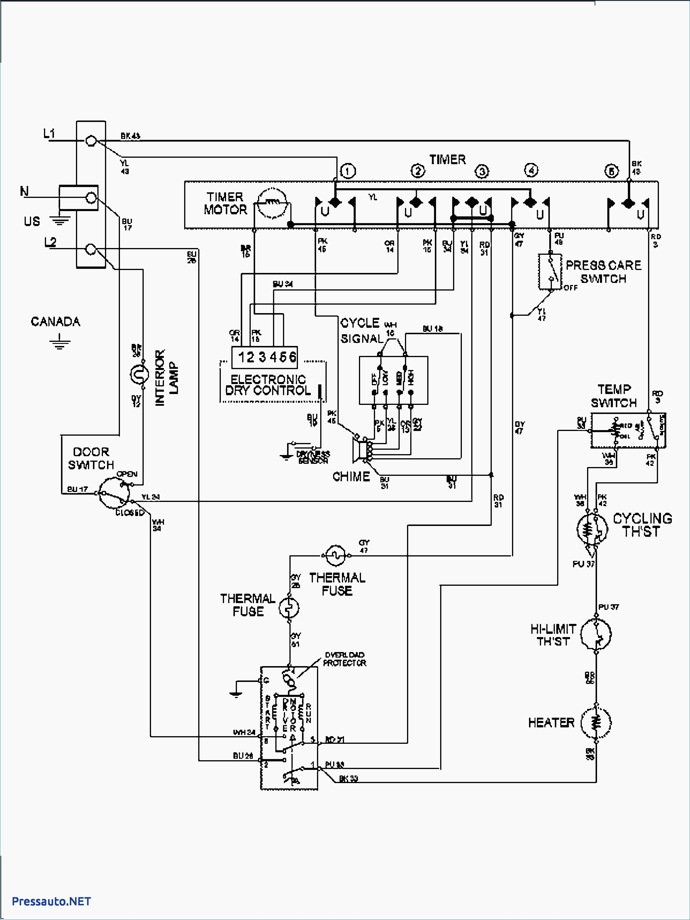 wiring diagrams for whirlpool dryer