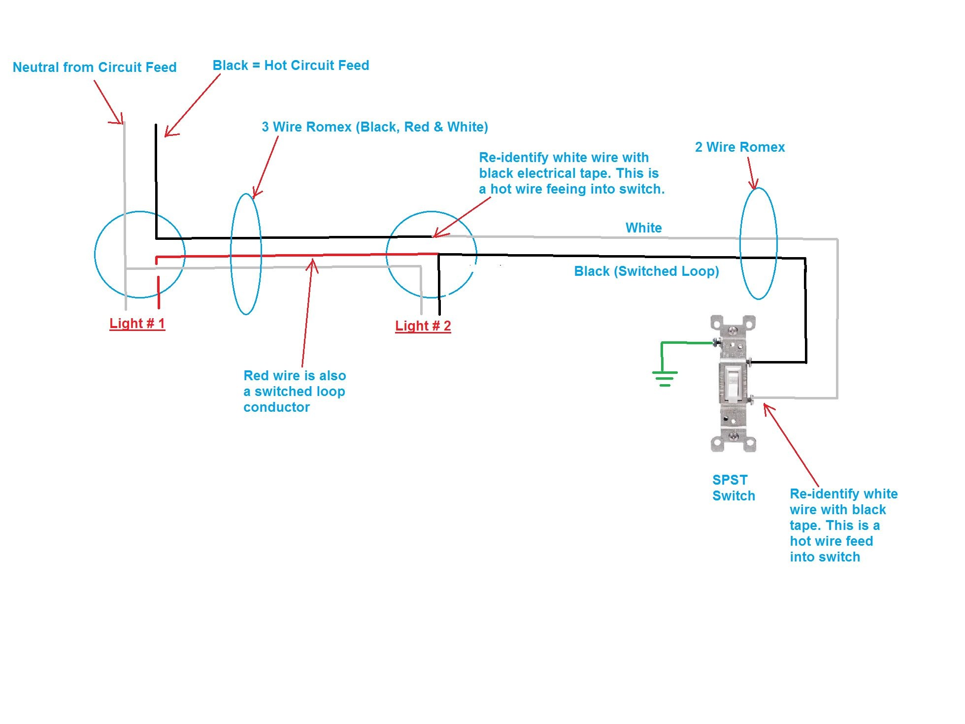 With Recessed Light On Installing Recessed Lighting Wiring Diagram