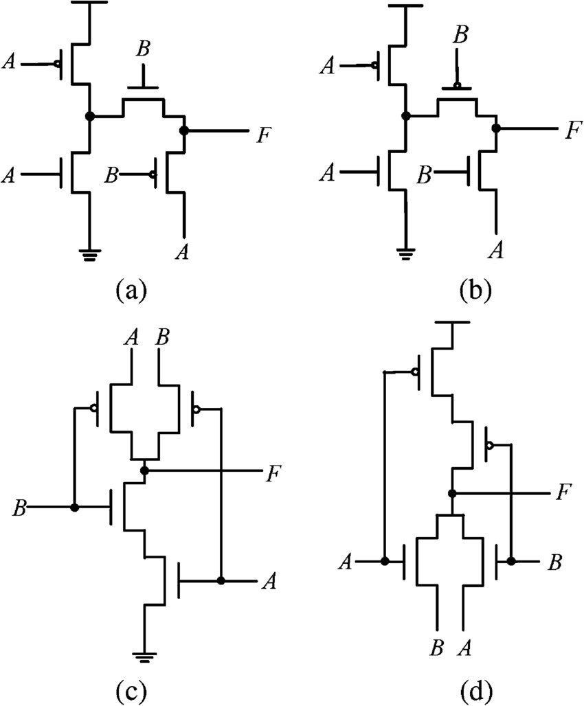 4 transistor XOR XNOR circuits