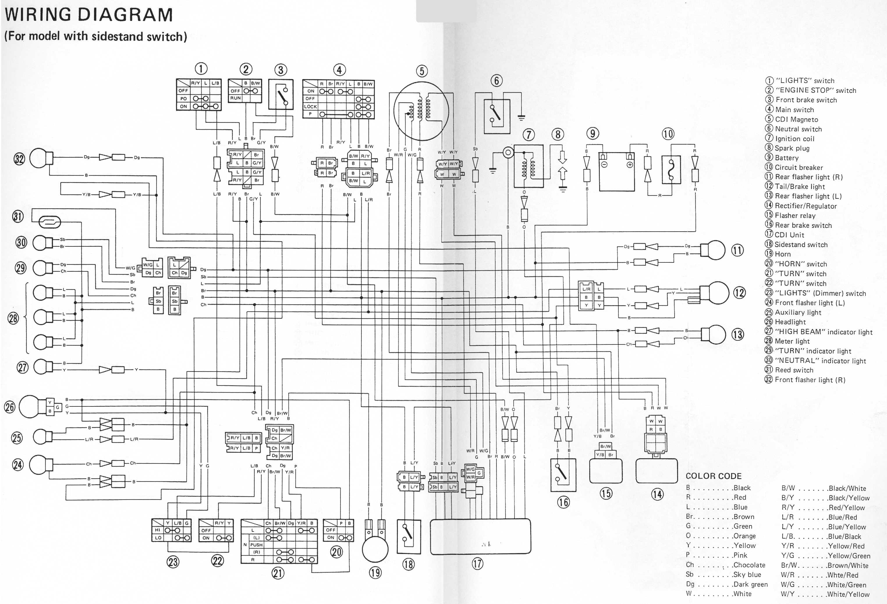 Yamaha 350 Warrior Wiring Diagram