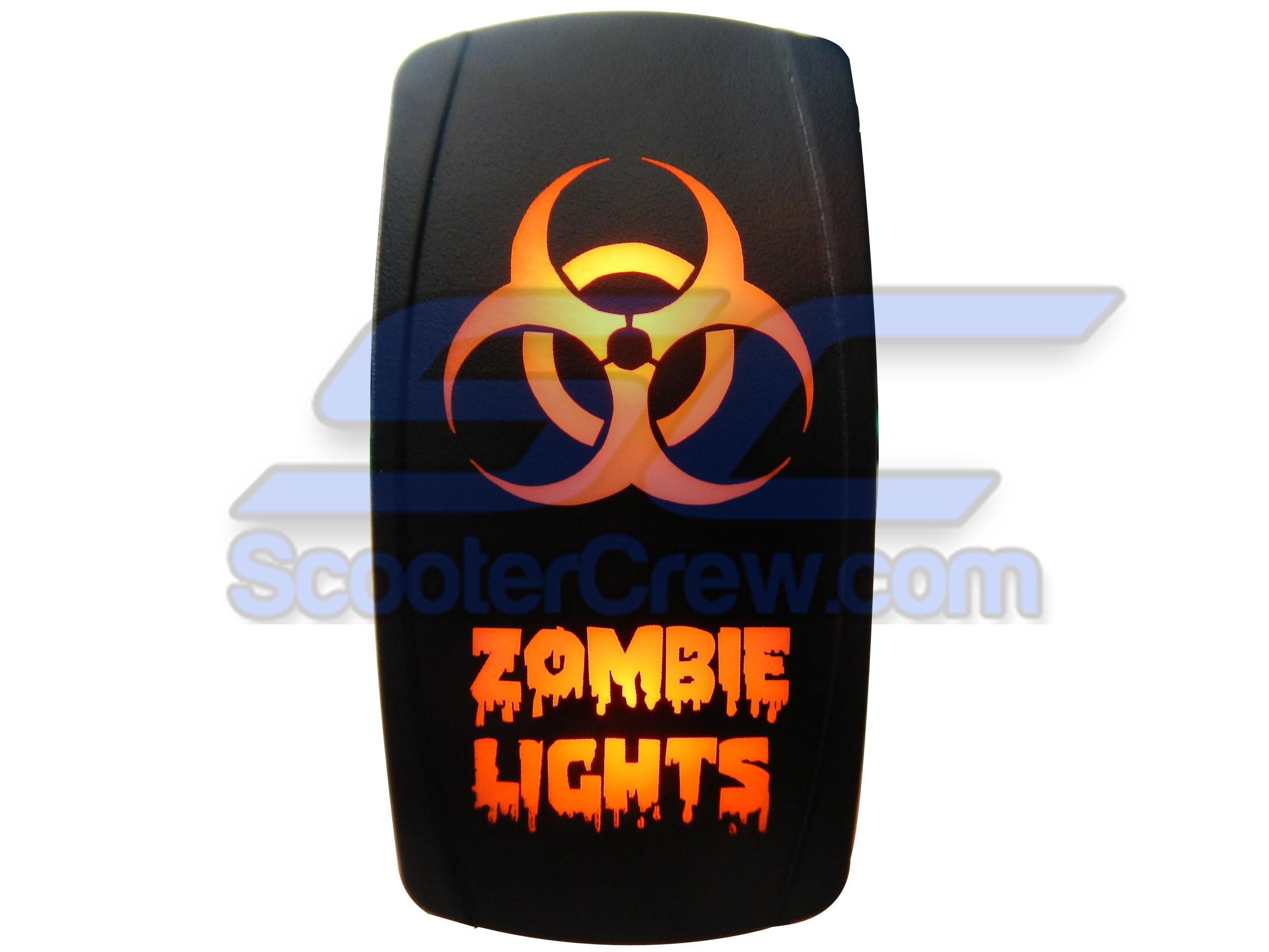 Orange Zombie Lights Rocker Switch 101O Zombie Lights 101O