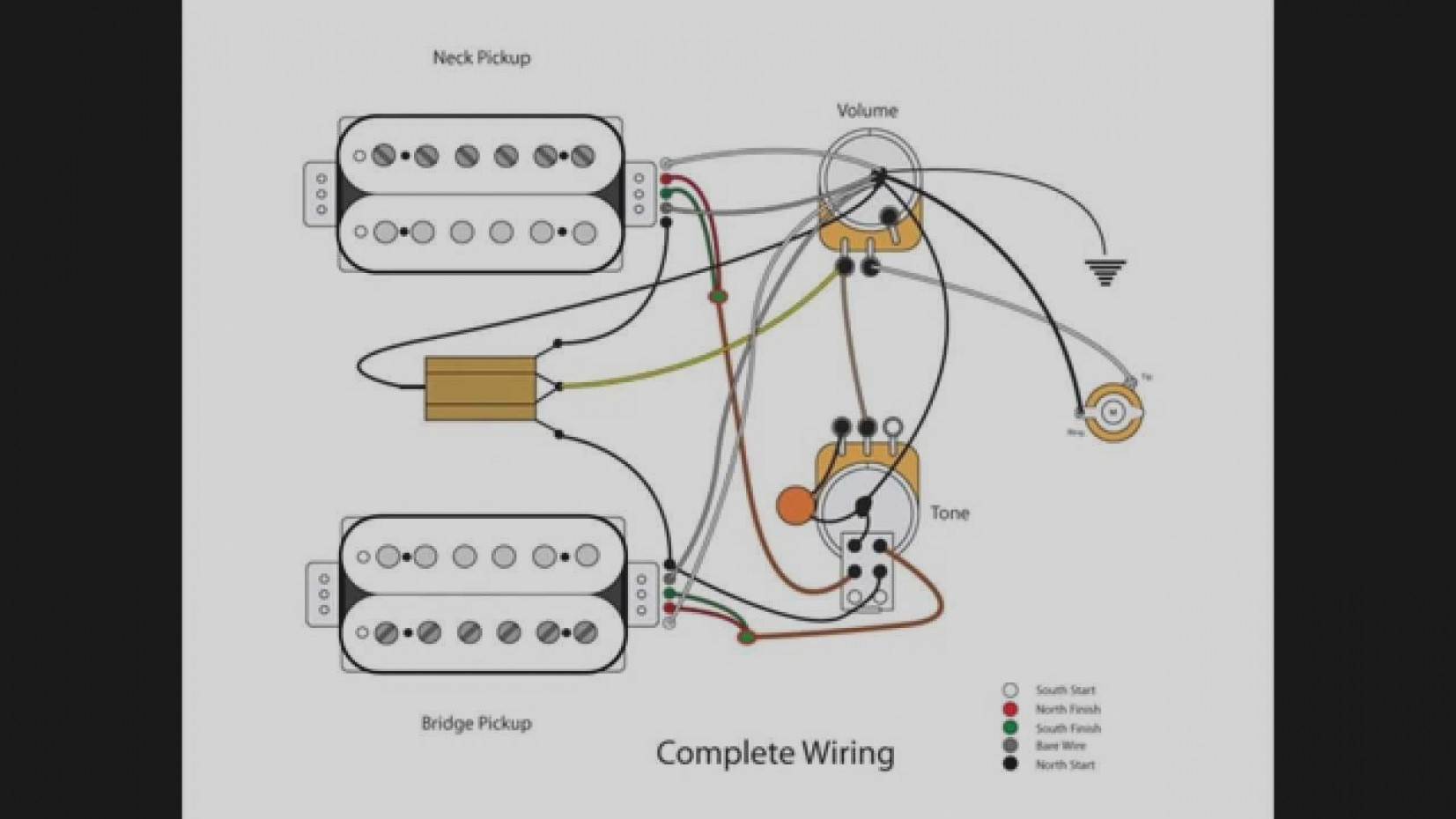 Attractive Single Humbucker Wiring Vignette - Electrical System ...