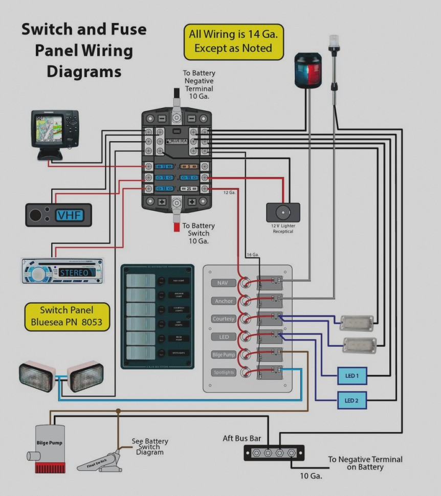 Gallery 12v Switch Panel Wiring Diagram For A And Bus Bar Page 1 Inside Boat
