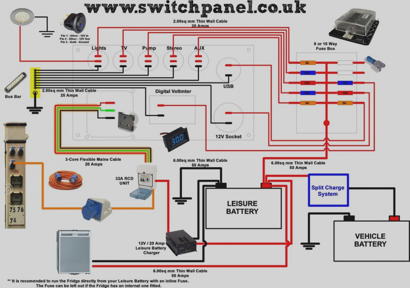 Unique Switch Panel Wiring Diagram 12v Inspirational 60 In Pioneer Avic For 12V