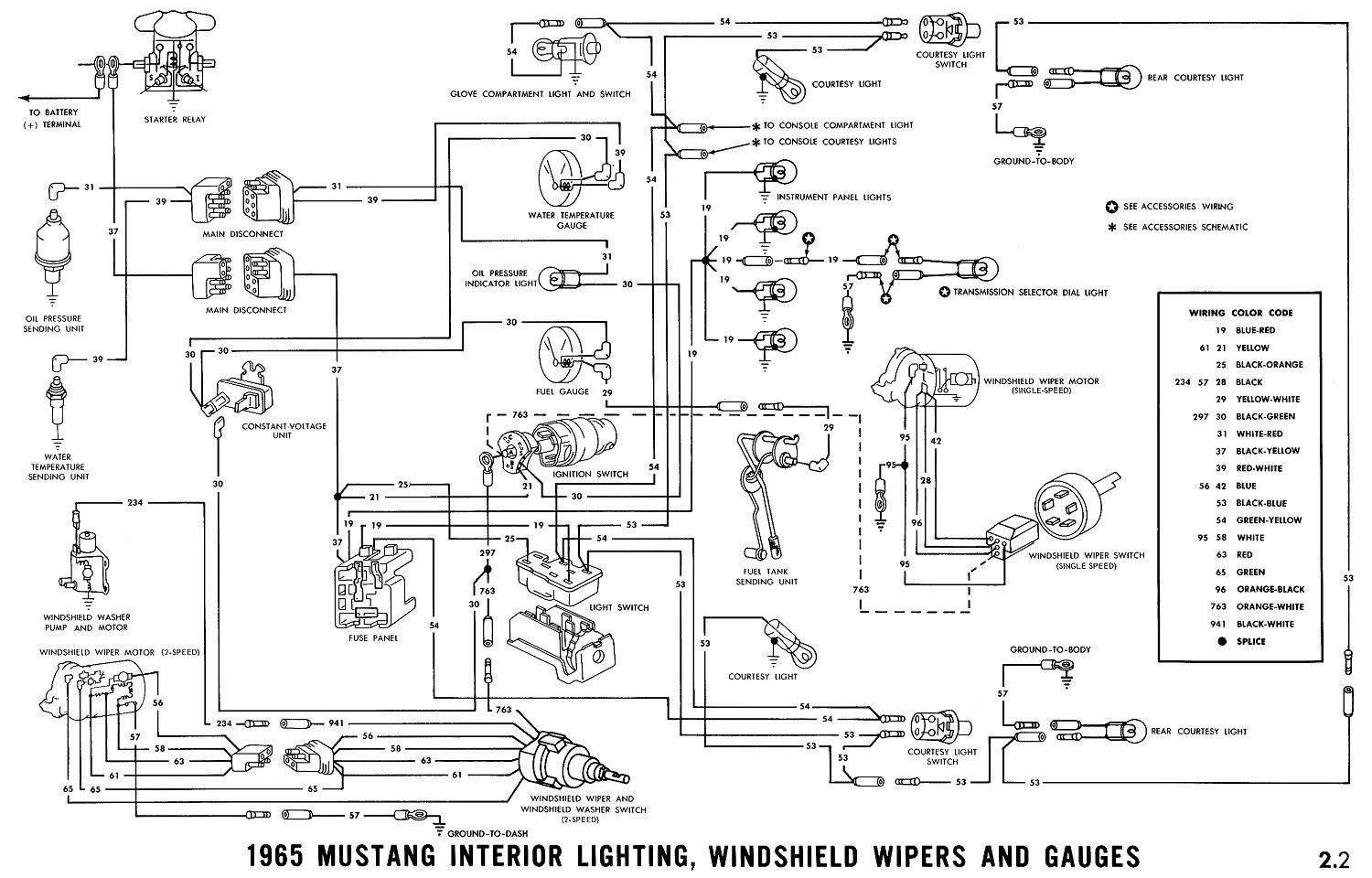 1970 Mustang Wiper Wiring Diagram For Light Switch 1973 Ford 1965 Image Rh Mainetreasurechest Com Solenoid