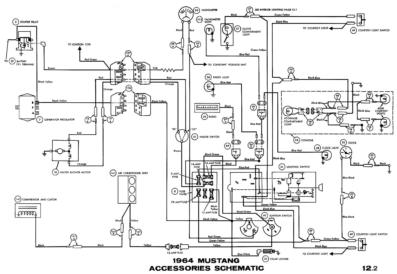 ... Courtesy 1965 Mustang Wiring Diagram | Wiring Diagram Image on 66  mustang ignition, 66 mustang battery ...