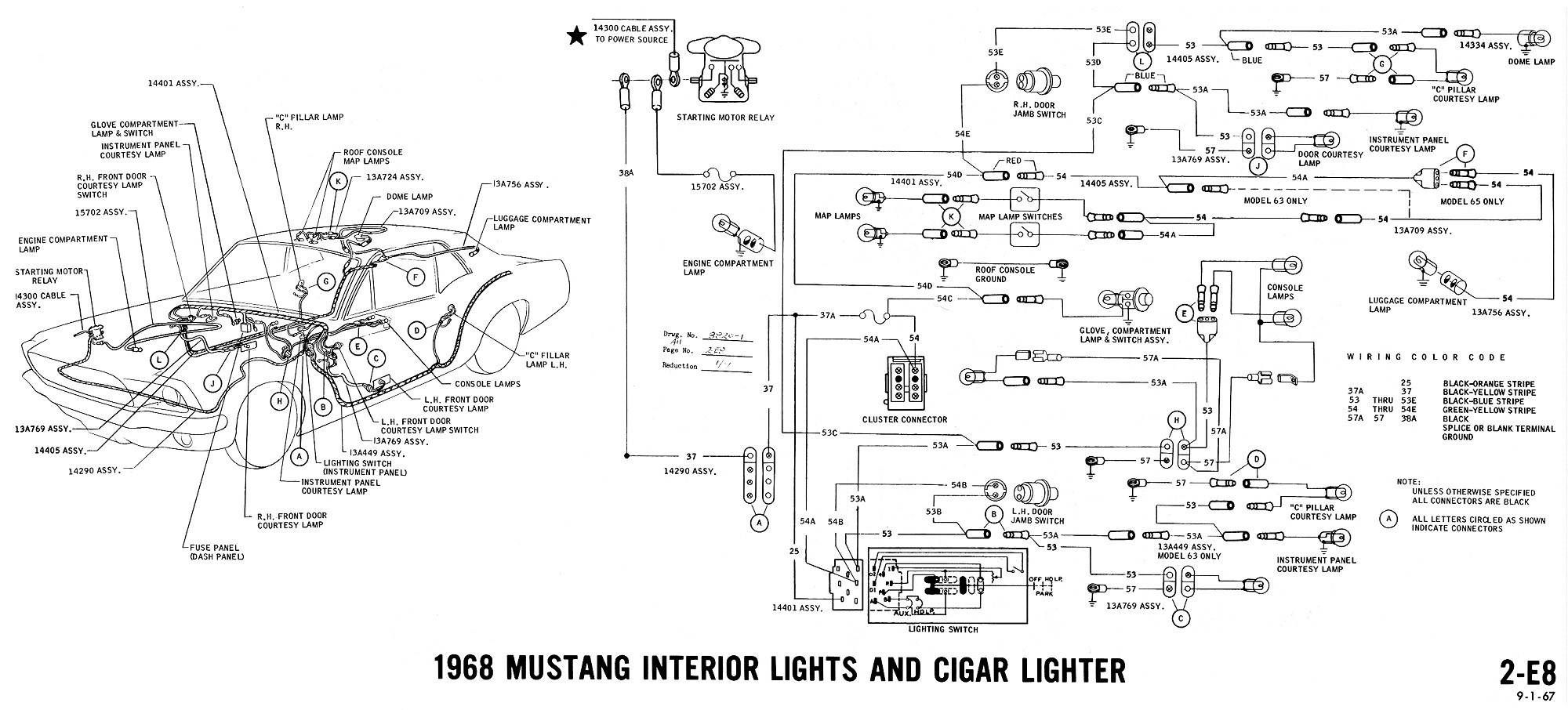 1970 Mustang Solenoid Wiring Diagram | Wiring Liry on mustang alternator wiring diagram, mustang solenoid valve, mustang wiring harness diagram, mustang engine wiring diagram,