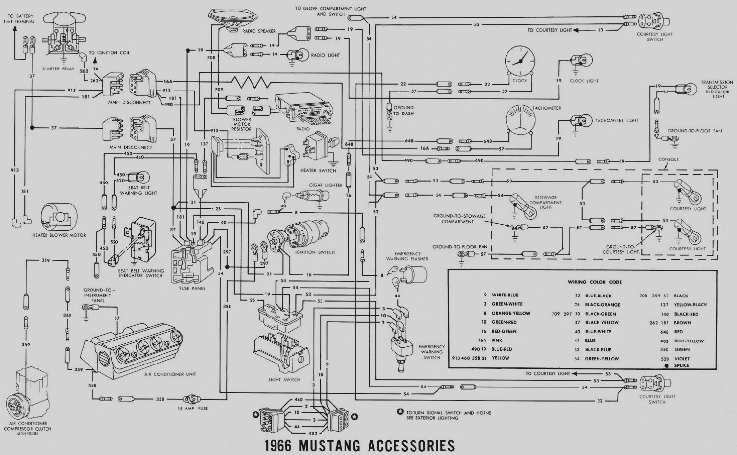 Courtesy Light Wiring Diagram For 1966 Mustang Library Tachometer Trusted Ford Heater