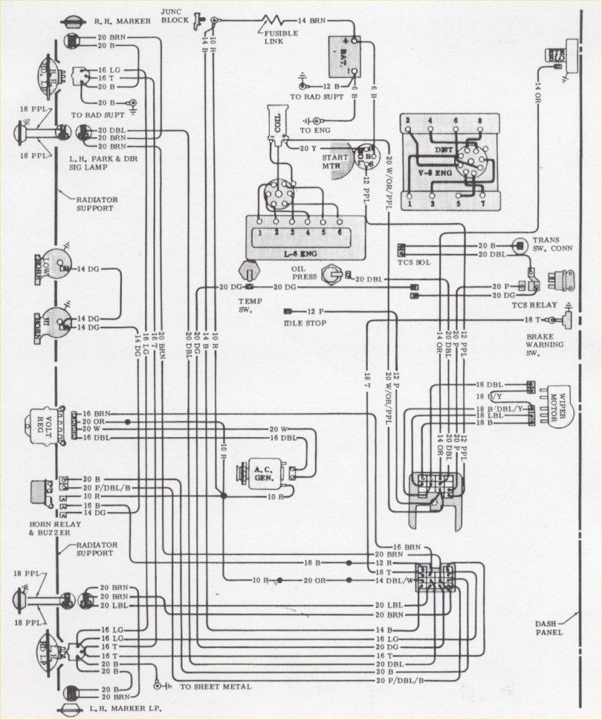 1968 camaro wiring diagram new