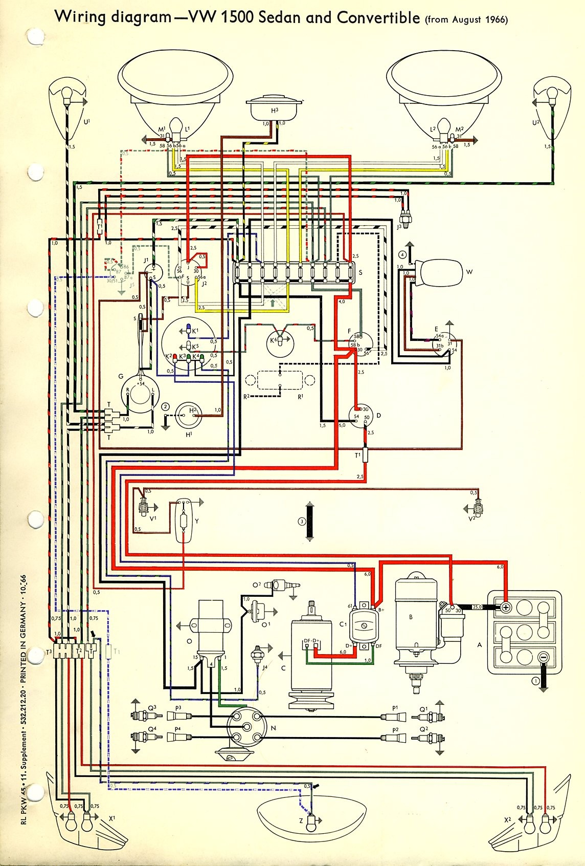 vw wiring diagram for 1961 data wiring diagrams u2022 rh 66 42 64 5 1973 VW  Super Beetle Wiring Diagram 1969 VW Beetle Wiring Diagram
