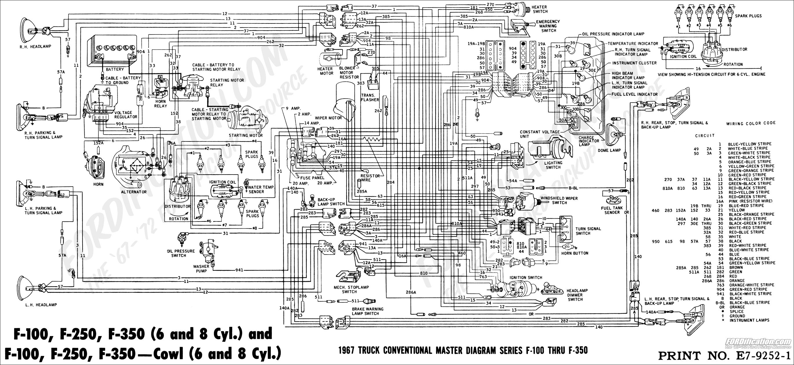 Ford Wiring Schematics Diagram Data 2011 F 250 Fuse 1993 150 Wire Mustang