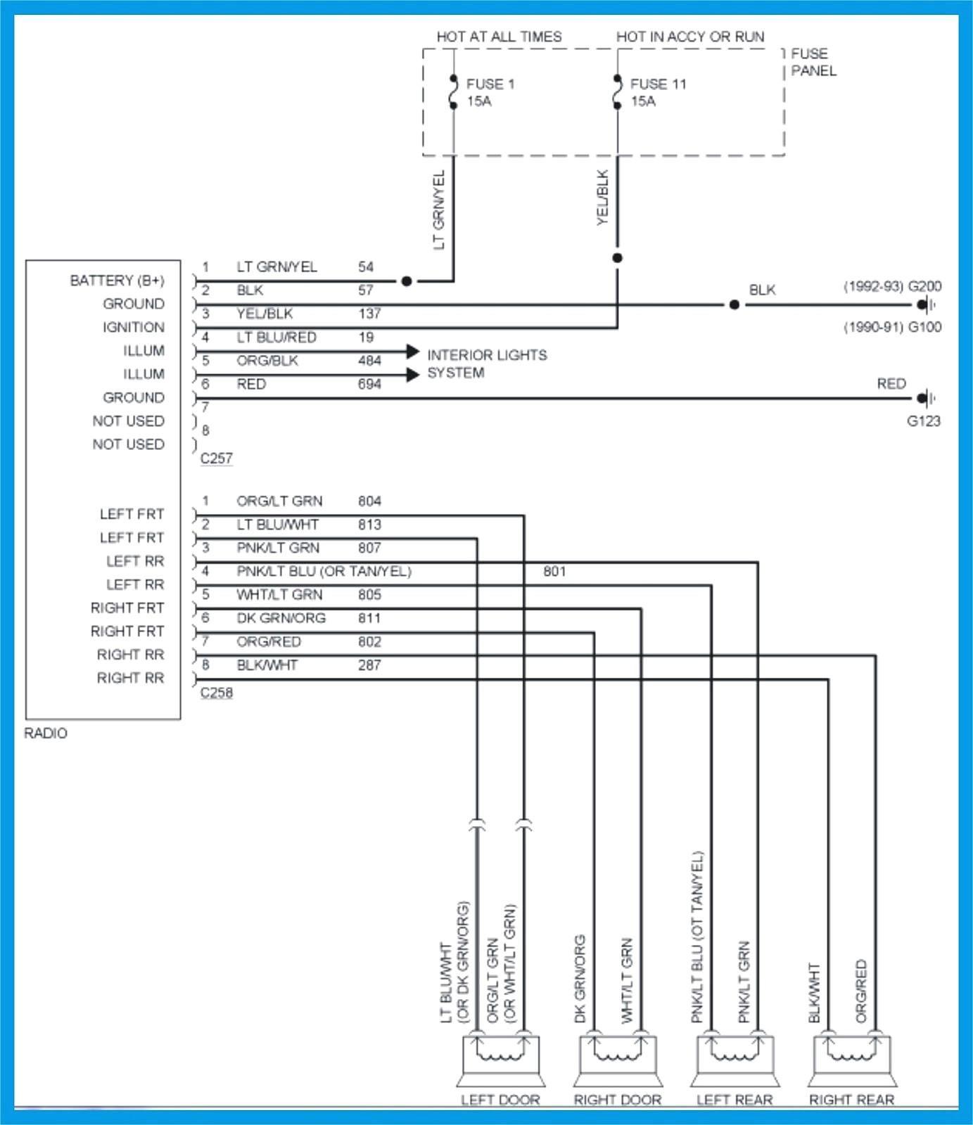 Wiring Diagram For Radio 1996 Ford Explorer