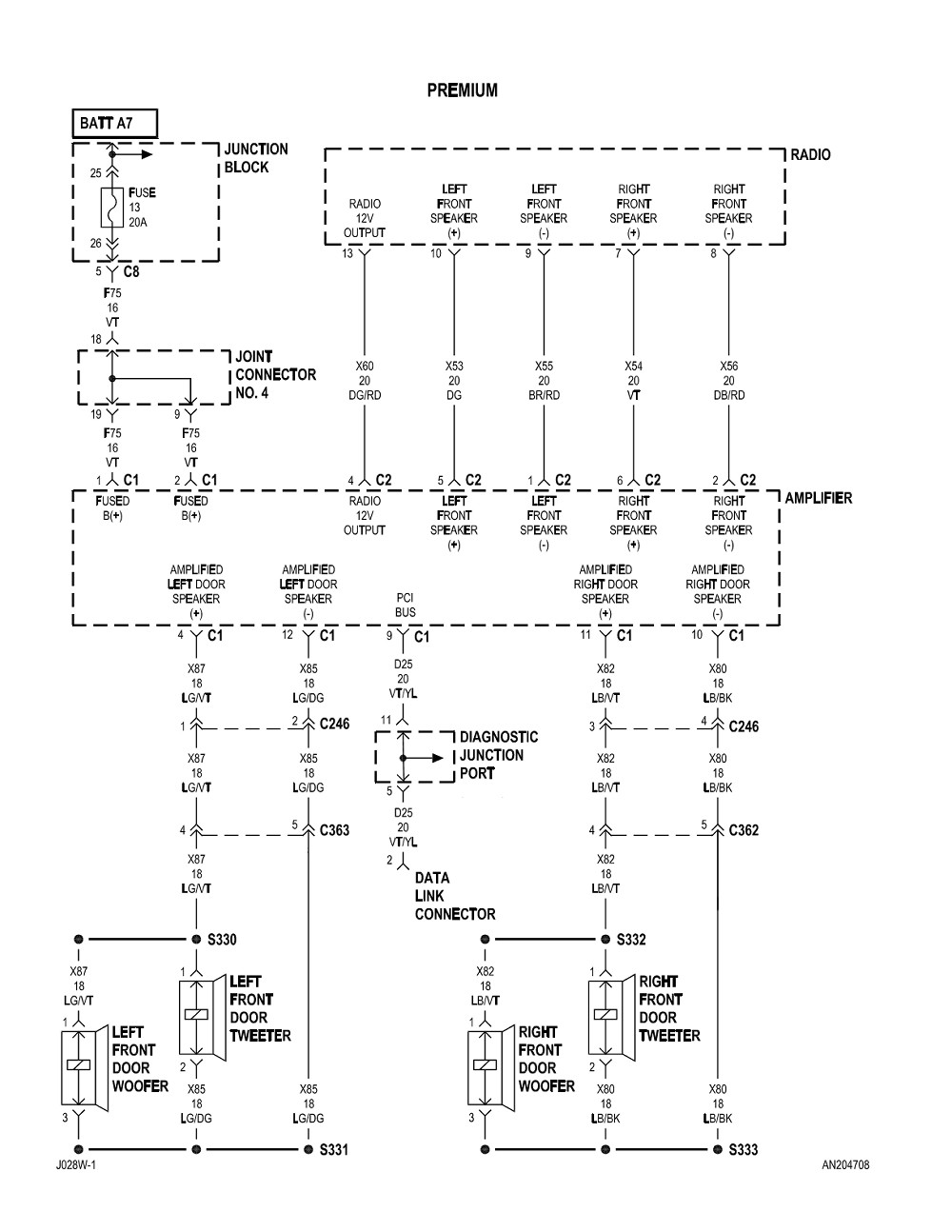 Dodge Dakota Stereo Wiring Diagram from mainetreasurechest.com