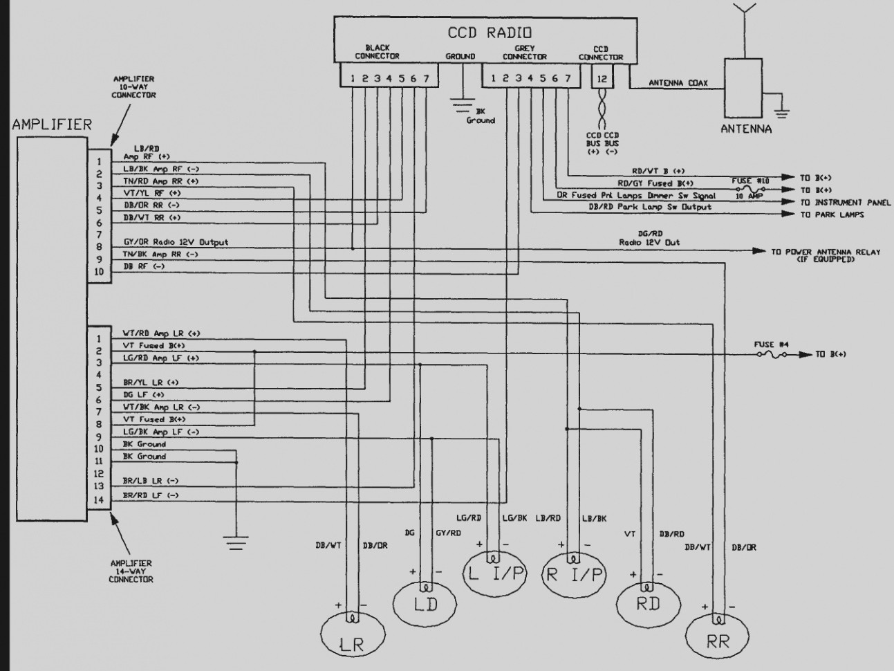 1995 Jeep Grand Cherokee Infinity Stereo Wiring Diagram - Custom ...