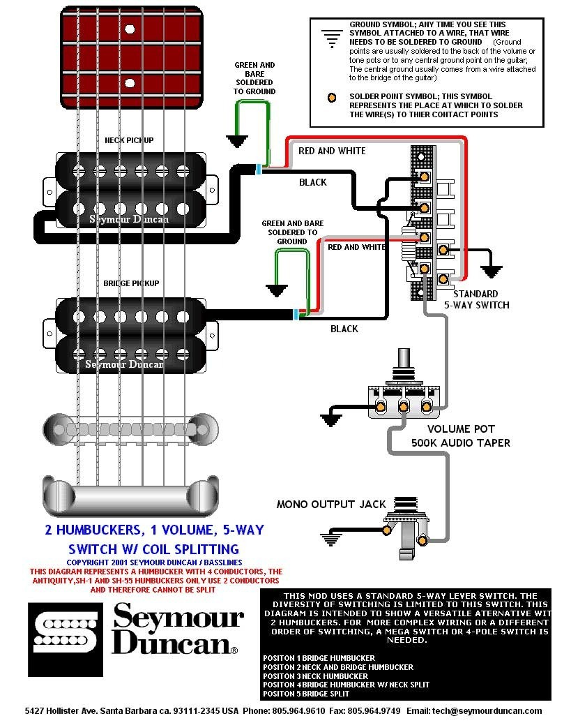 2 humbucker 5 way switch wiring elegant wiring diagram image rh mainetreasurechest com Two Humbucker 5-Way Switch Wiring Diagram 5-Way Switch Wiring Diagram Leviton
