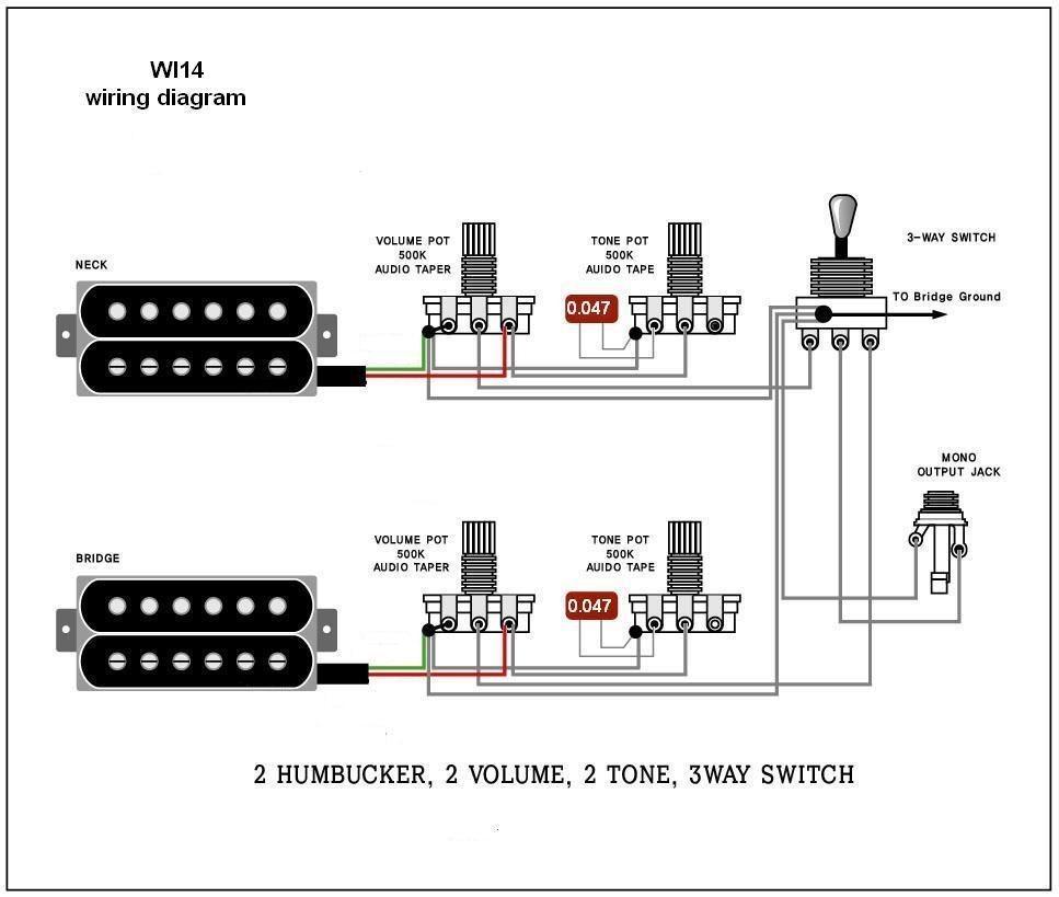 Wiring Diagram Electric Guitar Wiring Diagrams and Schematics Electric Guitar Wiring Diagrams Wi14 Wiring Diagram 2 Humbucker 2 Volume 2 Tone 3 Way Switch