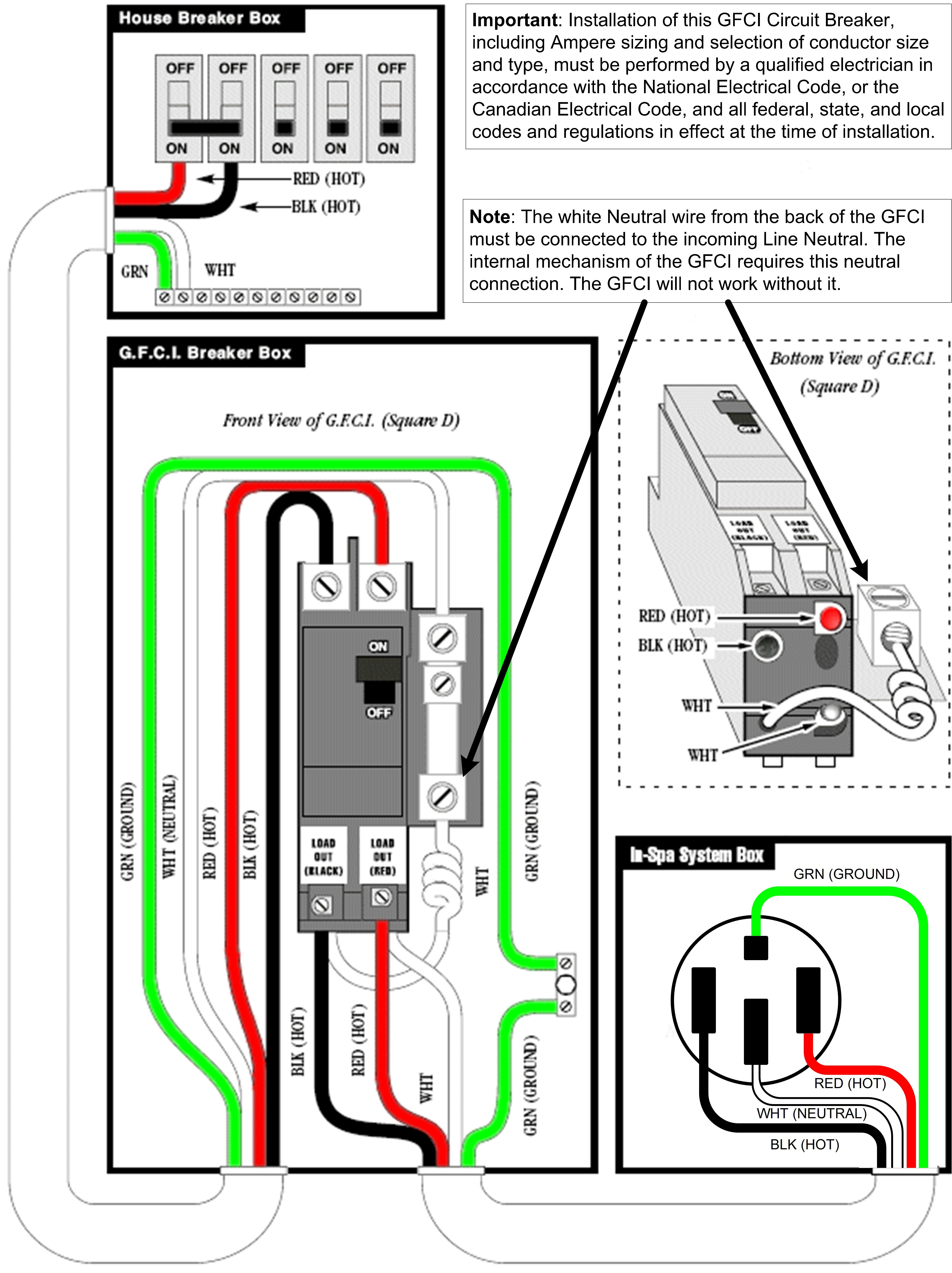 2 Pole Gfci Breaker Wiring Diagram Fresh Gfi Breaker Wiring Wiring Diagram