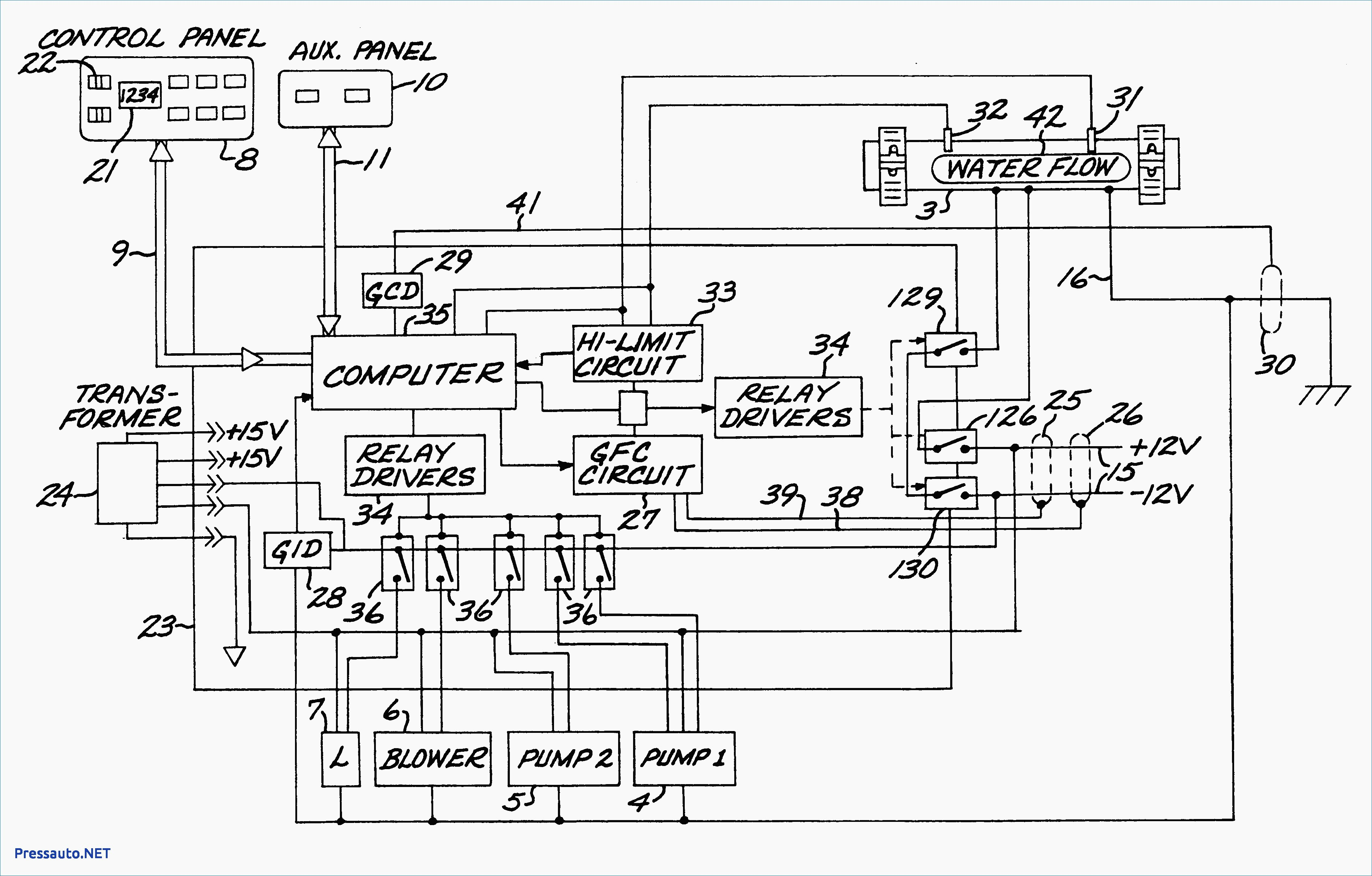 Spa Wiring Diagram Schematic - Library Of Wiring Diagrams •